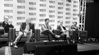 The panel at MUSEXPO